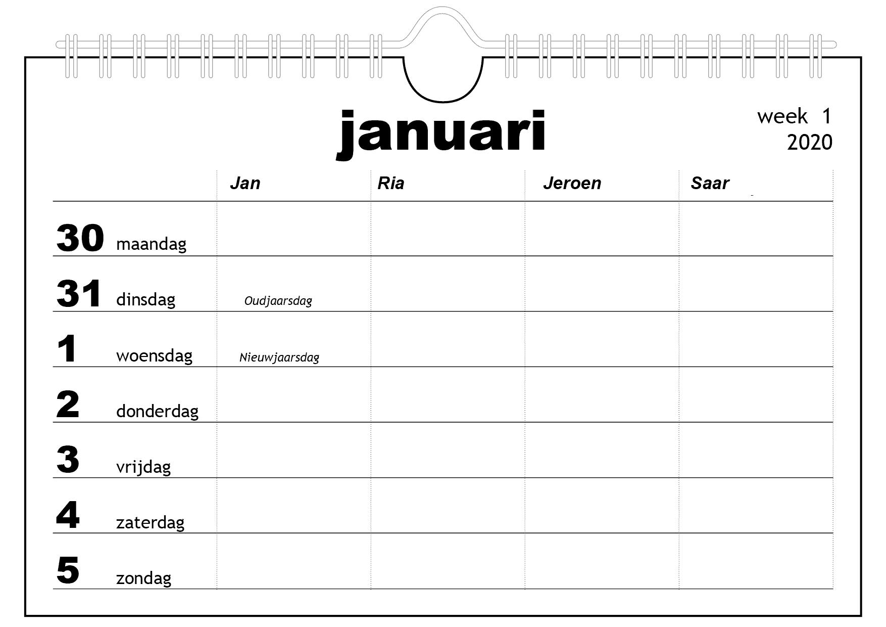 familiekalender op maat gemakt - top kalenders