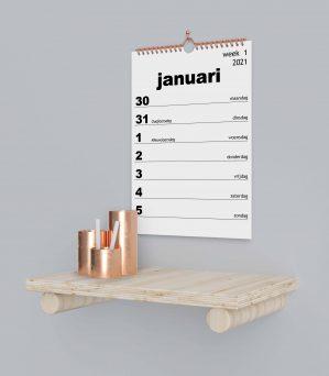 Grootletter weekkalenders